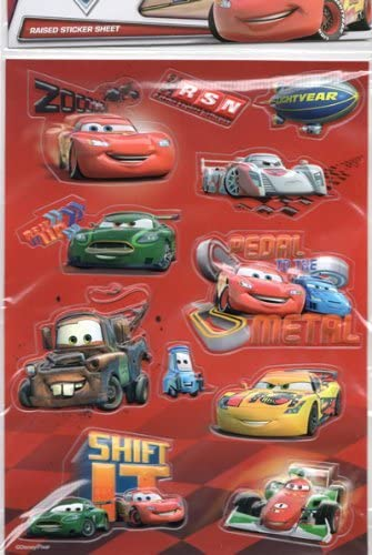 Disney PIXAR Cars(カーズ)Raised sticker sheet(立体シール)【並行輸入品】