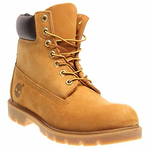 Timberland Men's 6'' Basic Contrast Collar Boot, Wheat Nubuck, 7 M US by Timberland