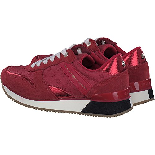 Tommy Hilfiger Denim Dame Sneaker Rød zcycmgyX