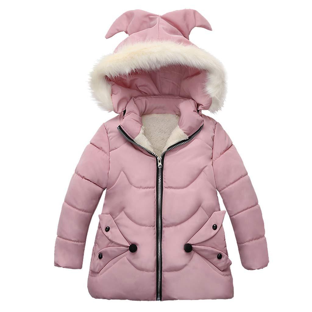 Lataw Children Coat Kids Overcoat Girls Winter Coats Jacket Zip-up Thick Warm Snow Hoodie Outerwear Windproof Snowsuit by Lataw