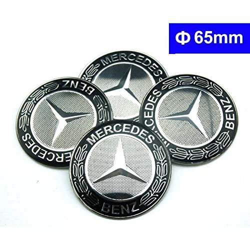 4pcs c071 65mm black car styling accessories emblem badge for Mercedes benz wheel cap emblem