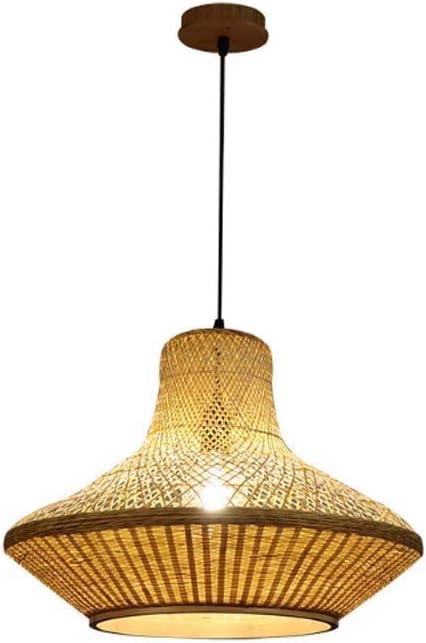 UNU_YAN Luz Pendiente de bambú de una Sola Cabeza Tejido a Mano nórdica Restaurante lámpara de iluminación de Techo de la decoración del Arte for el Dormitorio