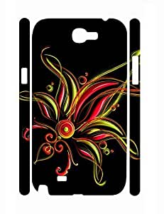 Fashion Individualized Unique Flower Pattern Super Smooth Phone Dust Proof Case for Samsung Galaxy Note 2 N7100