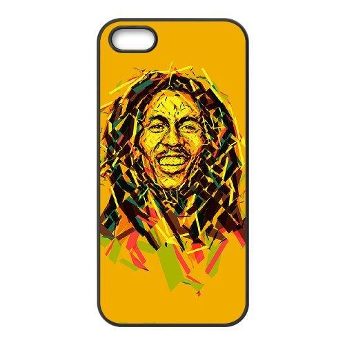 Bob Marley 001 coque iPhone 4 4S cellulaire cas coque de téléphone cas téléphone cellulaire noir couvercle EEEXLKNBC23704