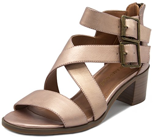 Rampage Women's Havarti Sandal Rose Gold/Metallic 8.5 for sale  Delivered anywhere in USA