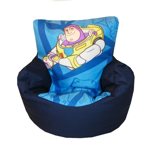 Toy Story Buzz Lightyear 2 Tone Frontal Character Design Bean Bag Chair Unique With