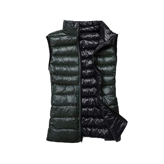 Pour Hiver Femme Gilet Blouson Manteau Vert Ultra Zippée S Légère Veste Manche Sans Noir vf8z6q