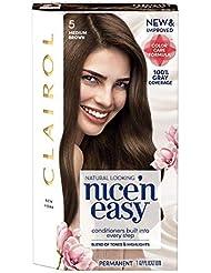 Clairol Nice'n Easy Permanent hair Color 5 Medium Brown...