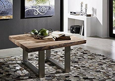 Acacia in legno massello mobili tavolino da salotto sgabello 90x90
