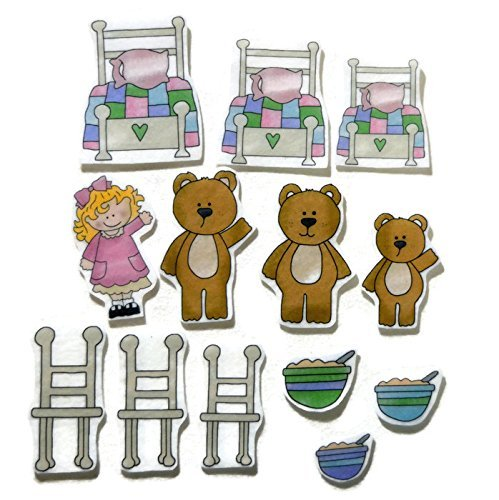 photo regarding Printable Felt Board Stories named : Goldilocks and the A few Bears Felt Board Tale