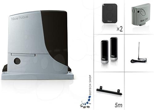 NICE ROBUS 600 Motor 24V para puertas correderas - Kit M: Amazon.es: Bricolaje y herramientas