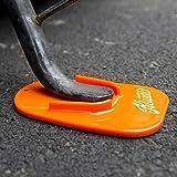 KiWAV motorcycle motorcross orange kickstand pad universal fit