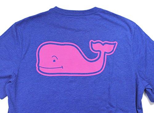 Vineyard Vines Mens Graphic T Pocket Neon Heather Whale Blue Shirt