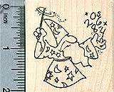 Math Wizard Rubber Stamp, Magician