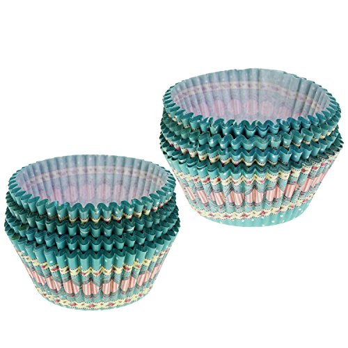 OCR Paper Baking Cups Cake Liners Cupcake Muffin Cake Wrappers 200PCS (Round dot pattern)