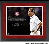 "Nick Saban Alabama Crimson Tide Framed Autographed 16"" x 20"" Quote Photograph - Fanatics Authentic Certified"