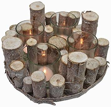 Chiccie Holz Ast Teelichthalter Vintage Tischdeko Kerzenhalter
