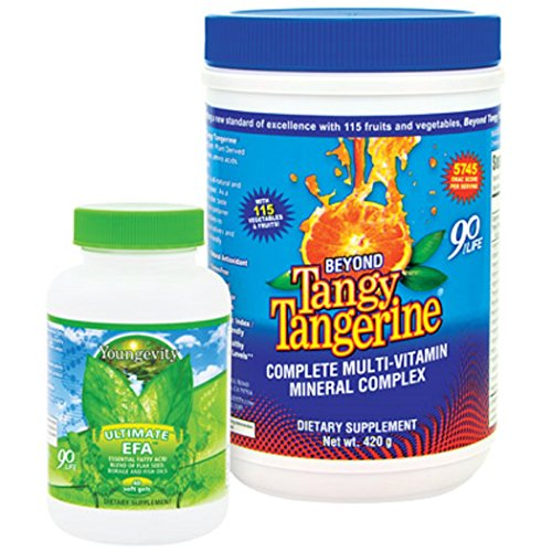 Youngevity BTT Basic 90 Pak Beyond Tangy Tangerine Ultimate EFA Plus (Ships Worldwide) by Youngevity