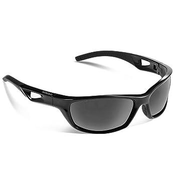 Lunettes de soleil Chereeki polarisées avec protection UV 400et cadre TR90incassable, unisexe, pour le sport, la pêche, le ski, la conduite, le golf, la course à pied, le cyclisme, le camping, bleu