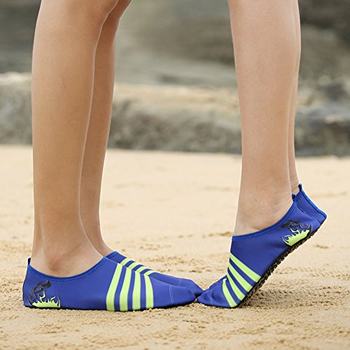 KPU Sports and Pull Women On Ventilation Outdoor Dry Sneaker 3Blue Kids' Outsole Water Holey Men Quick Shoes 8Aw6qp