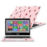 MightySkins Skin For Asus Chromebook Flip C302CA 12.5'' (2016) - Winter Fox Pattern | Protective, Durable, and Unique Vinyl Decal wrap cover | Easy To Apply, Remove, and Change Styles | Made in the USA