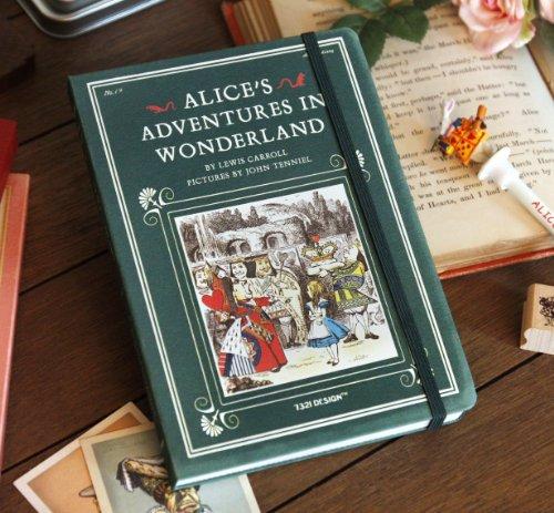 Alice's Adventures in Wonderland Undated Planner Vol. 19 - Dark Green