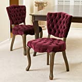 Great Deal Furniture Violetta French Design Dining Chairs (set of 2)