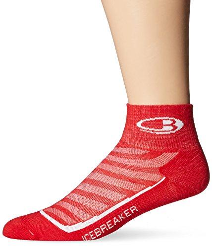 Icebreaker Men's Run+ Ultra Light Mini Socks, Rocket/White, Medium