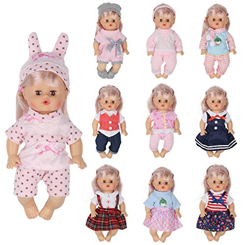 a3e766e61a6ab Huang Cheng Toys Set of 10 for 12 Inch Doll Handmade ailve Baby Lovely  Dress Clothes
