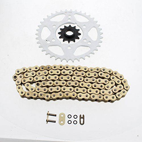 1995 1996 Polaris Magnum 425 4x4 Gold O Ring Chain & Rear Sprocket Set - Polaris Chains Magnum 425