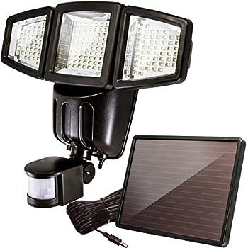 Utilitech Pro 180 Degree 2 Head Bronze Solar Powered Led