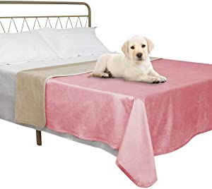 fuguitex Waterproof Dog Blanket Cooling Bed Mat for Bed Fleece Pet Blanket Bed Cover for Dog Throw Blanket for Couch Sofa