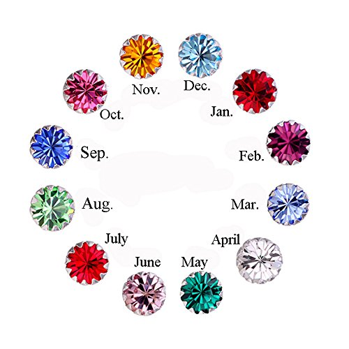 - Amaer 925 Sterling Silver Birthstone Studs Earrings for Teen Girls Tiny Crystals Earrings (April)