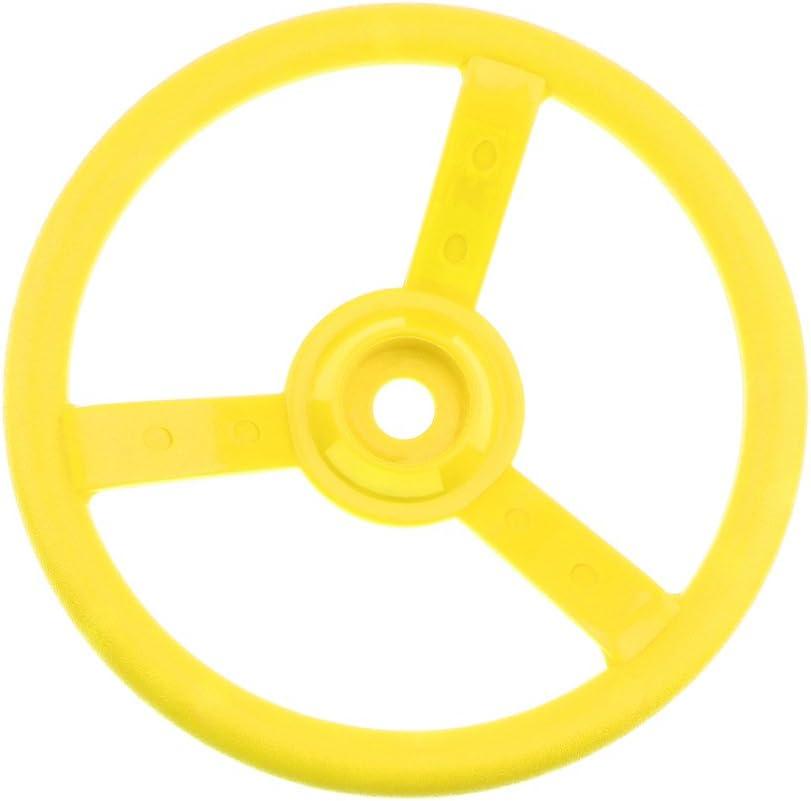 non-brand 30cm Juguete Infantil Volante de Columpio de Madera Accesorio de Parque Deportes Interior/Exterior Regalo Divertido para Niños - Amarillo
