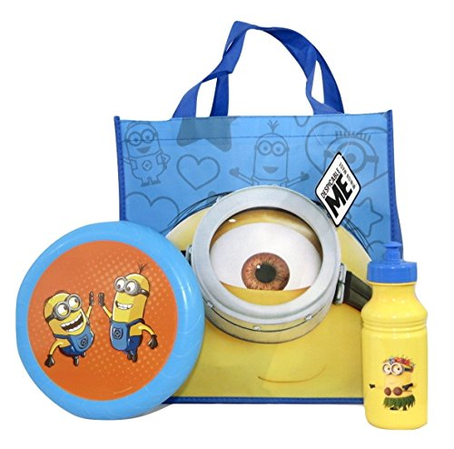 [Despicable Me Minions Flying Disc, Pull-top Bottle and Reusable Tote Bundle Su-20 (Stuart Tote)] (Despicable Me Costume Walmart)