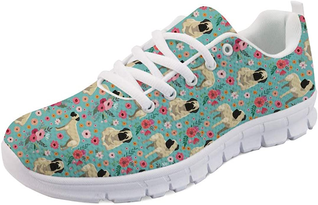 chaqlin Cat Pattern Womens Running Shoes Breathable Lightwear Mesh Upper Sports Athletic Hiking Tennis Sneakers Flat for Girls