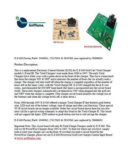 Ezgo Golf Cart Part Total Charge Charger Control Board 28668-g01