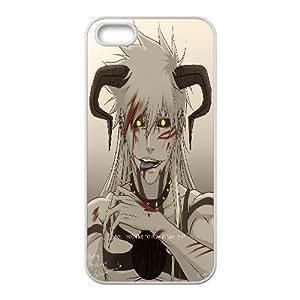 IPhone 5,5S Case Hardshell Golden Eyes Horn, Bleach Iphone 5s Cases for Teen Girls [White]