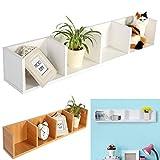 Modern Wood Wall Mount CD DVD Media Rack Holder