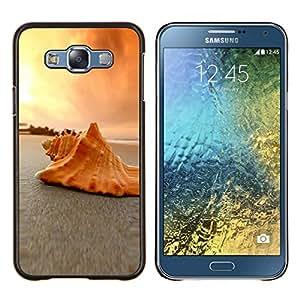 """Be-Star Único Patrón Plástico Duro Fundas Cover Cubre Hard Case Cover Para Samsung Galaxy E7 / SM-E700 ( Conchas de mar Conchas Beach"""" )"""