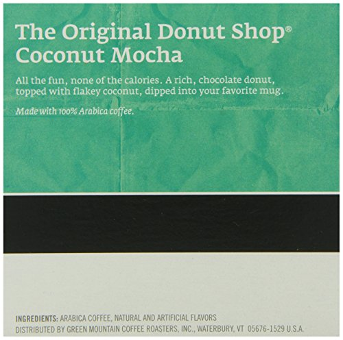 The Original Donut Shop Coconut Mocha, Keurig K-Cups, 72 Count