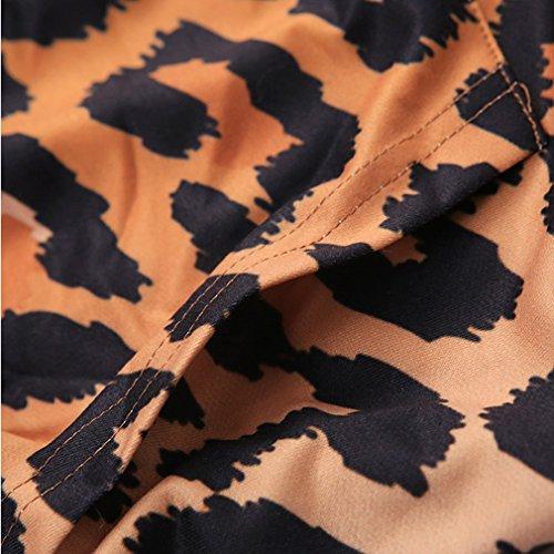 THENICE - Sudadera con capucha - Manga Larga - para mujer Tiger Leopard