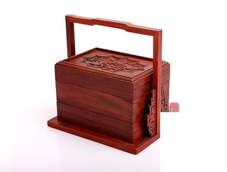 muebles de caoba mediana y pequeña micro-PRECISAS caja de torta de luna x-