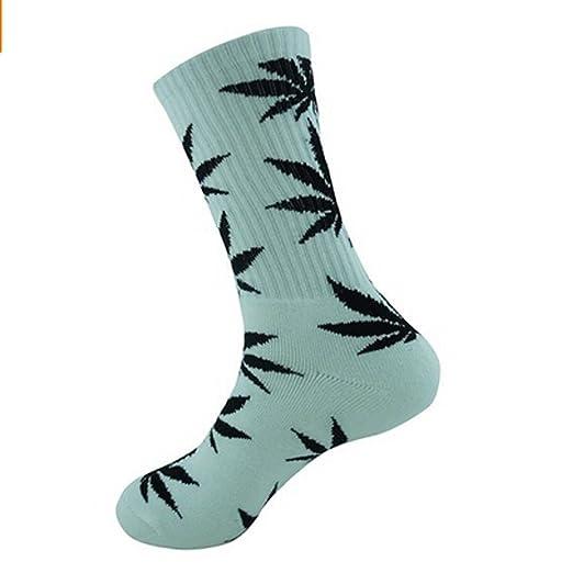 Amazon Com Aufland Cotton Plantlife Leaf Weed Crew Socks Size 7 13