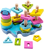 let's make Wooden Educational Toys for Toddlers ,Wooden Puzzle Shape Sorter Preschool Learning Toy Sensory