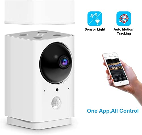 1080P Home Security Camera, FUVISION Pan Tilt Zoom Wi-Fi Indoor Smart Surveillance Camera with Motion Tracking,Night Vision,Sensor Lamp,2-Way Audio,Cloud Storage and SD Card, Compatible with Alexa