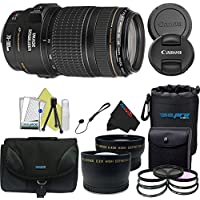 Canon EF 70-300mm f/4-5.6 IS USM Lens + Pixi-Pro Accessory Lens Kit