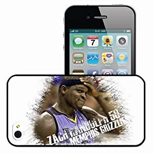 Personalized iPhone 4 4S Cell phone Case/Cover Skin 15034 grizz 2 Black