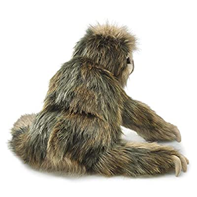 Folkmanis 3131 Three-Toed Sloth Hand Puppet, One Size, Multicolor: Toys & Games