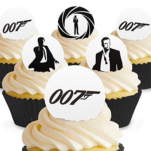 Cakeshop 24 x PRE-CUT James Bond 007 Edible